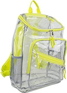 Eastsport Clear Top Loader Backpack, Citrus