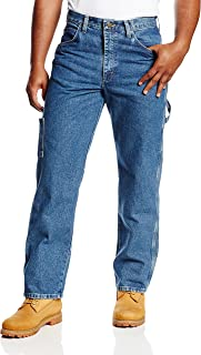 Bulwark Men's Flame Resistant 14.75 Ounce Pre-Washed Denim Dungaree