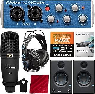 PreSonus AudioBox 96 Studio Plus Recording Kit with Studio One Software and PreSonus Eris E3.5 Multimedia Reference Monitors (Pair) Bundle