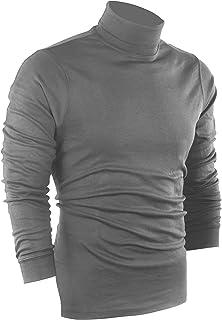 Utopia Wear Premium Cotton Blend Interlock Turtleneck Men T-Shirt Pullover Sweater
