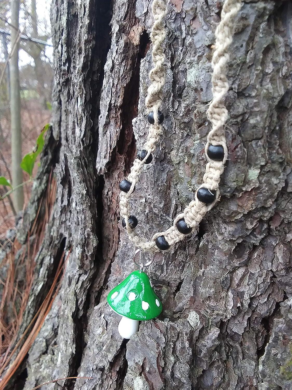 Ranking TOP15 BEACH HEMP JEWELRY Jumbo Green Mushroom Necklace Credence Choker Adjustab