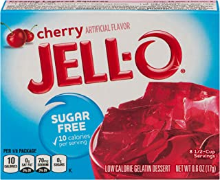 JELL-O Cherry Sugar Free Gelatin Dessert Mix (0.6 oz Box)
