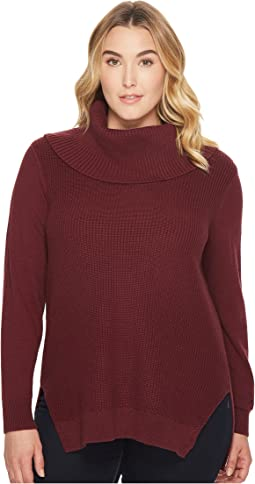 MICHAEL Michael Kors - Plus Size Shaker Long Sleeve Cowl Sweater