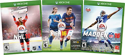 EA Sports Value Pack: NHL 16 / FIFA 16 / Madden NFL 16 (3-Pack) (Xbox One)
