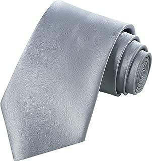 dark grey silk tie