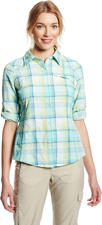Columbia Women's Special price Silver Bombing new work Ridge Sleeve Plaid Shirt Long