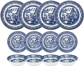 Churchill Blue Willow 12 Piece Dinner Set
