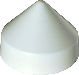 Dock Edge PVC Cone Head Piling Cap, 10-Inch, White