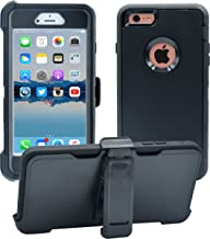 iPhone 6 Plus / 6S Plus Cover | 2-in-1 Screen Protector & Holster Case | Military..