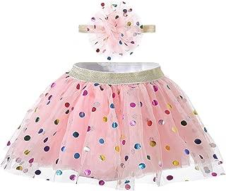Polka Dot Tutu Skirt Headband Sets for Toddler Baby Girls Dress Up 0-24 Months