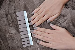 Color Lab EXTRE ADHESION 20PCS Nail Art Transfer Decals Sticker DIY Nail Polish Strips,Nail Wraps, Nail Patch, 100% Real Nail polish sheets applique for Manicure, Wedding, Party, A018 Elephant grey