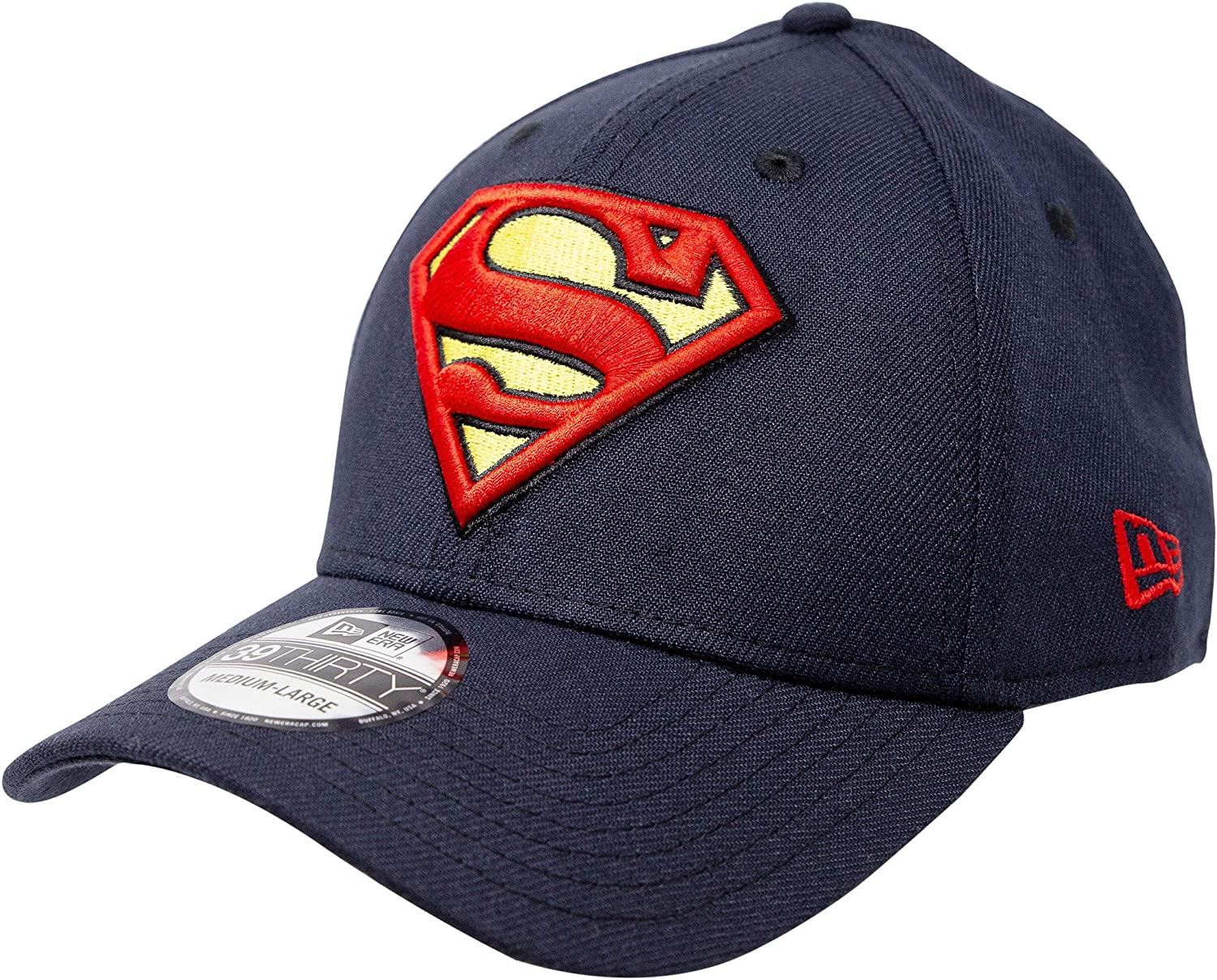 Superman Special price Classic Symbol on Navy New Era Hat Flex Fit 39Thirty Max 85% OFF
