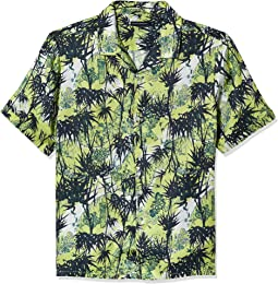 Long Sleeve Printed Regular Fit Button Down Shirt