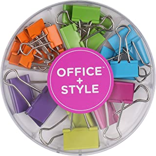 Office Style Colored Binder Clips, Assorted Size, 26 Pieces, Small