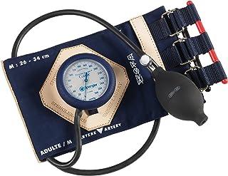 Spengler Vaquez-Laubry Classic - Tensiómetro con brazalete para adultos (con correas, algodón, talla M), color azul marino