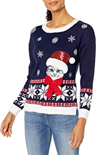 Blizzard Bay Women's Ugly Christmas Cat Sweater