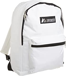 Everest Luggage Basic Backpack, White, Medium