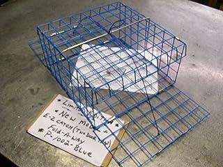 "E-Z Catch Limited Blue Crab Two Door Fold-A-Way Trap 12"" x 12"" x 6"" PVC Blue"