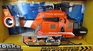 Tonka MOTORIZED Search & Rescue HELICOPTER (ORANGE) w LIGHTS & SOUNDS & PROPELLER Action (2014)