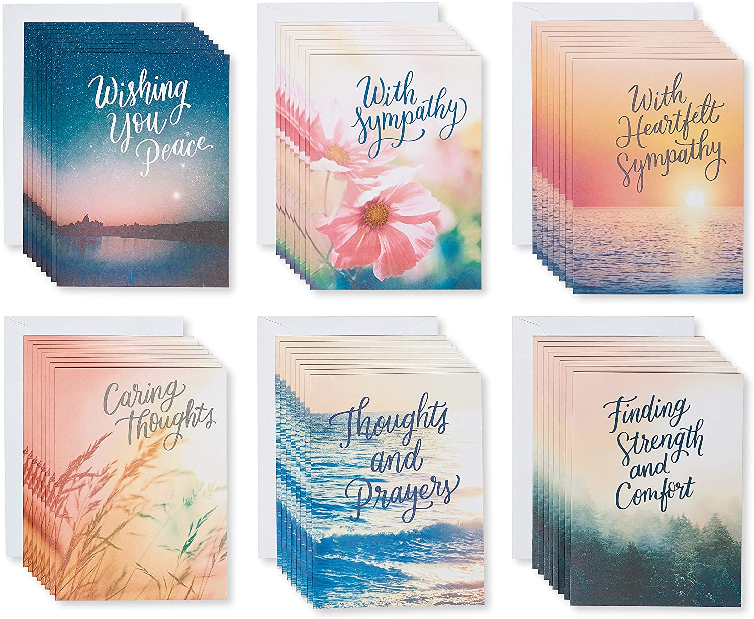 American Greetings Sympathy Sale Card 48-Count Assortment Nature Inexpensive