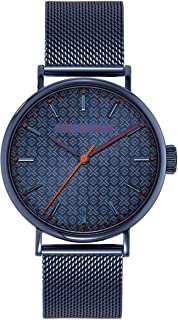 Ted Baker Watches Men's MIMOSAA Quartz Watch with Stainless Steel Strap, Blue, 20 (Model: BKPMMS003)