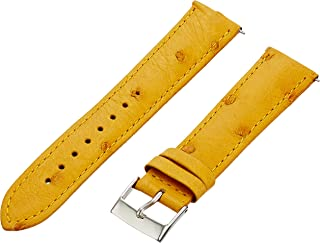 Swiss Watch International 20 MM Light Gold Genuine Ostrich Strap 20OS35M
