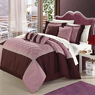 Chic Home 8-Piece Embroidery Comforter Set, Queen, Quincy Rose