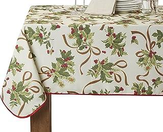 "Violet Linen Oblong/Rectangle Tablecloth 60"" x 102"" brown EURO SEASONAL"
