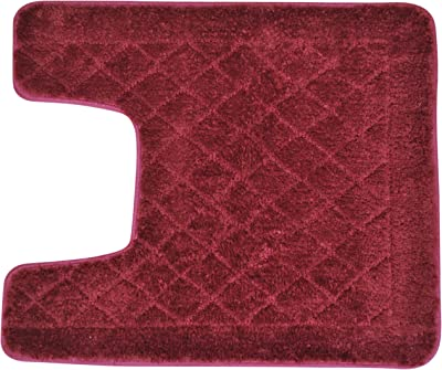 Everrouge Memory Foam 20-Inch by 24-Inch Contour Rug, Cotton Memory_Foam, Burgundy, 20-Inch by 24-Inch