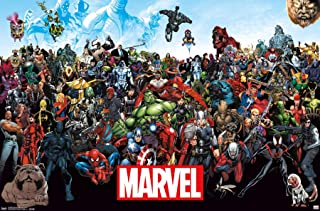 "Trends International Marvel-the Lineup 15 Premium Wall Poster, 22.375"" x 34"""