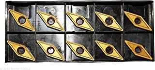 Pack of 10 RISHET TOOLS 42136 VCGX 220 VCGT 220 High Polish Carbide Inserts for Aluminum