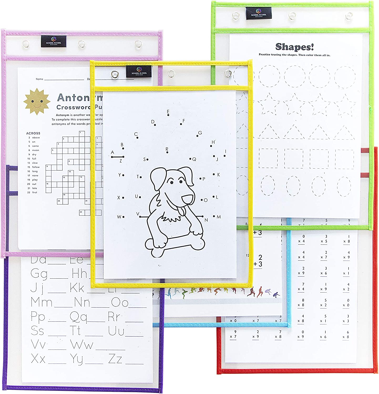 New product! New type School is Cool Designs 10 x14 Dry Sleeves Erase Pocket Popularity Oversized