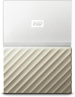 WD 3TB White-Gold My Passport Ultra Portable External Hard Drive - USB 3.0 - WDBFKT0030BGD-WESN (Old Generation)