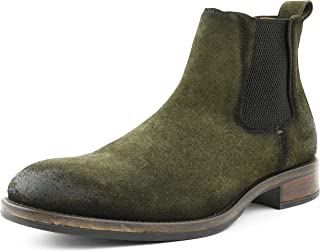 Asher Green AG6023 - Mens Boots Casual Vintage Rugged Gore Slip On Boots for Men Made from Genuine Suede Leather - European Italian Style Chelsea Boots