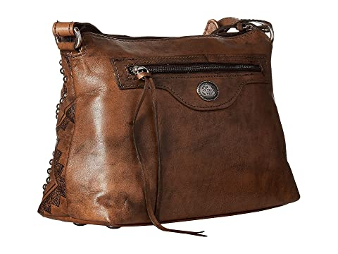 American West Nomad Heart Zip Top Crossbody Distressed Charcoal Brown Perfect Cheap Price Outlet 2018 Newest From UK TSXLv