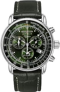 [ツェッペリン]ZEPPELIN 腕時計 100周年記念モデル グリーンツェッペリン クロノグラフ アラーム チェンジベルト付 8680-4 メンズ 【正規輸入品】
