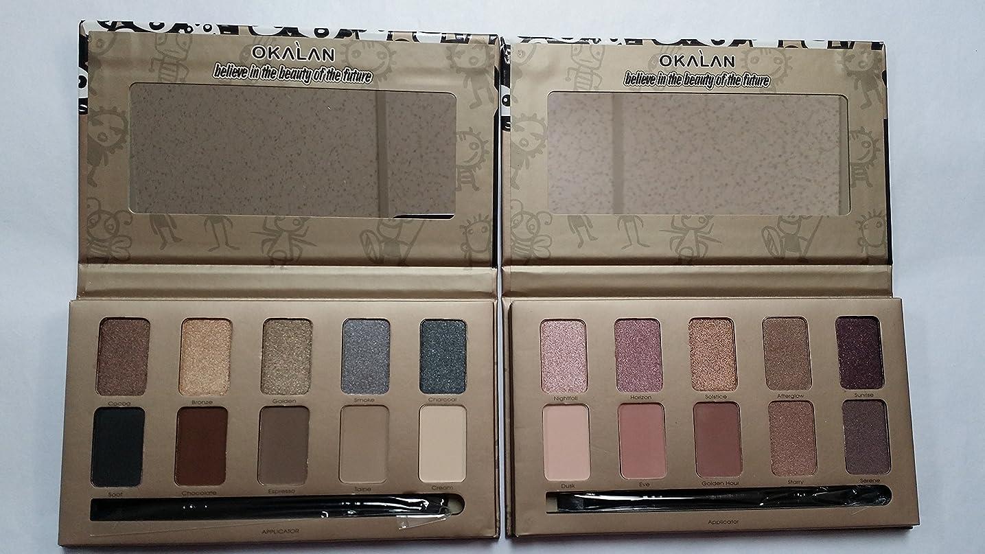 裁判官判読できないグリップOKALAN 10 Shade Natural Eyeshadow Palette Display Set, 12 Pieces (並行輸入品)