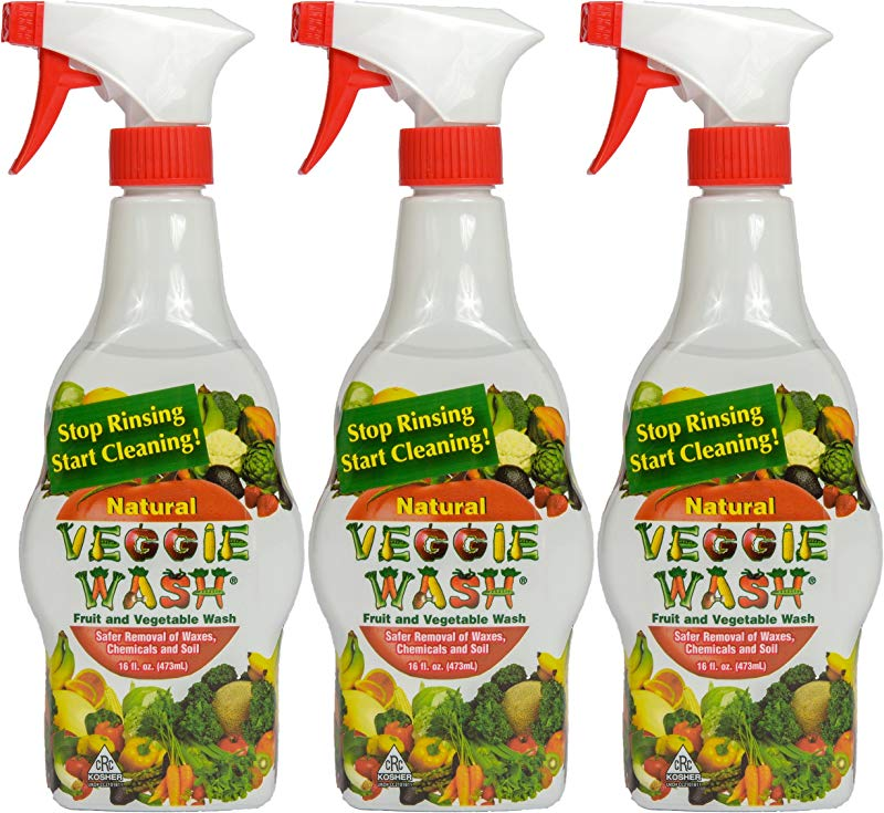 Veggie Wash All Natural Fruit And Vegetable Wash Sprayer 16 Ounce Spray 3 Pack