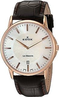 EDOX - Reloj de Cuarzo Suizo para Hombre 56001 37R Nair Les Bemonts con Pantalla analógica, Color marrón