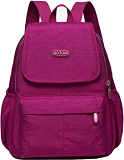 AOTIAN Small Lightweight Nylon Casual Travel Hiking Daypack Backpack for Girls and Women - 9 Liters Hot Pink