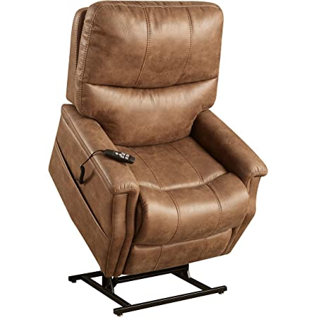Pulaski Faux Leather Dual Motor Lift Chair In Badlands Saddle Furniture Decor
