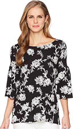 Karen Kane Embroidered Knit Top