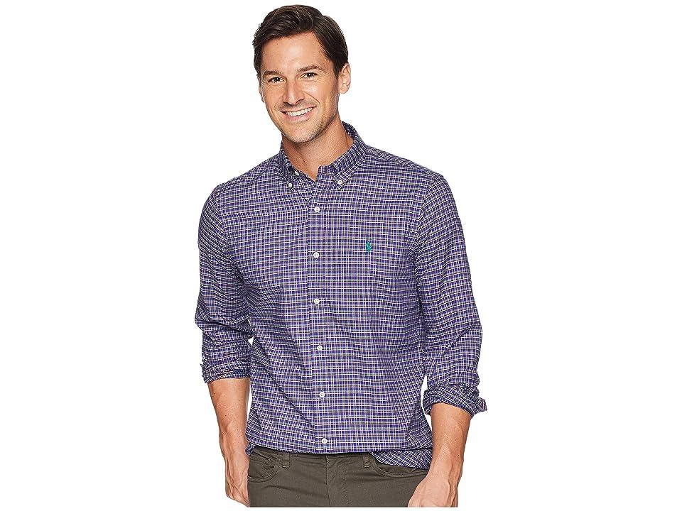 Polo Ralph Lauren Classic Fit Lightweight Twill (Purple/Tan Multi) Men