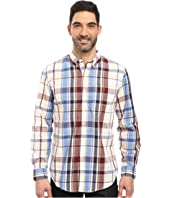 U.S. POLO ASSN. - Long Sleeve Classic Fit Plaid Poplin Button Down Collar Sport Shirt