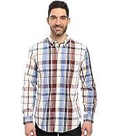 U.S. POLO ASSN. - Long Sleeve Classic Fit Plaid Poplin Button Down Collar Sport Shirt