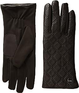 Calvin Klein - Quilted Zipper Gloves