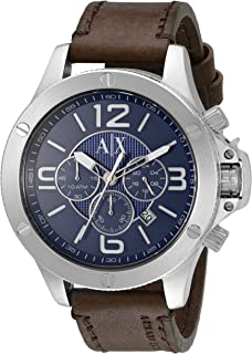 Armani Exchange Men's AX1505 Brown Leather Watch