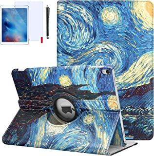 """iPad 9.7 Case 2018, iPad 6th Generation Cases, 360 Degree Rotating Stand Hard-Cover Folding Case with Auto Wake/Sleep Feature for 2018/2017 (6th,5th,Air 1st) 9.7"""" (Starry Night)"""