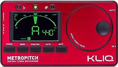KLIQ MetroPitch - تونر مترونوم برای همه ابزارها - با گیتار، باس، ویولن، Ukulele، و حالت های تنظیم رنگی - ژنراتور تن - کیف حمل شامل سرخ