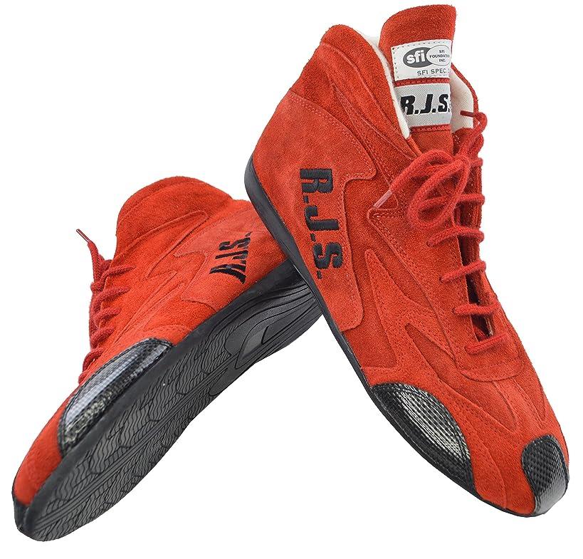 RJS Racing SFI 3.3/5 Racing Driving Shoes RED Mens 13 / Womens 15